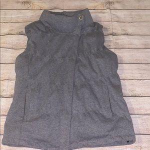 Athleta Down Puffer Vest Gray Size XL